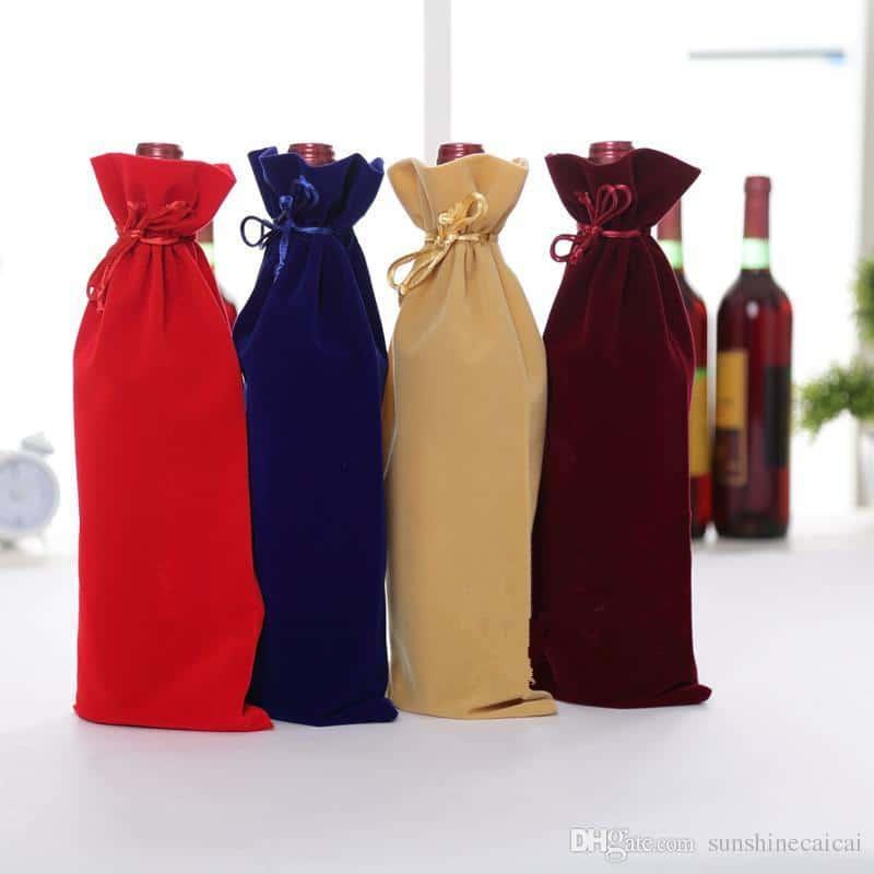 Velvet Wine Gift Bags