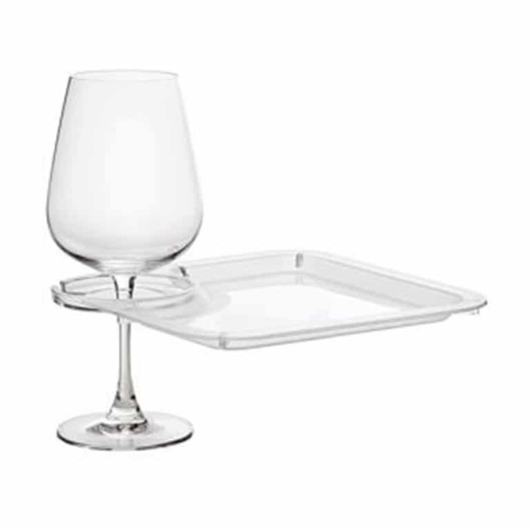 Wine Party Plates with Wine Glass Holder – Round or Square