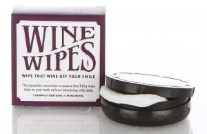 Wine Wipes, Mirror Compact with 15 Disposable Wipes