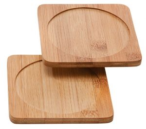 Bamboo Bottle or Glass coaster (1)