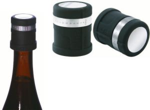 AntiOx a Deluxe Carbon Filter Wine Preserving Stopper w Day Marker Ring