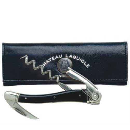Chateau Laguiole™ Waiter's Corkscrew – Black Horn Tip
