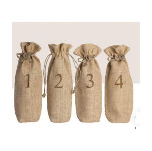 Jute Blind Wine Tasting Sacks – Set of 4