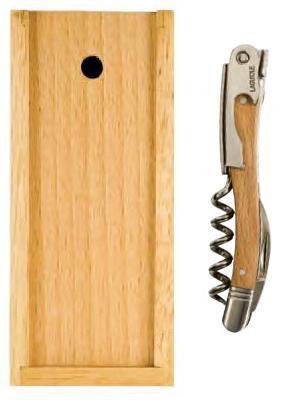 Laguiole™ Corkscrew, Beechwood Handle Set