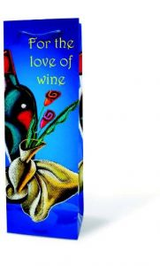 For The Love Of Wine – Paper Wine Bottle Gift Bag