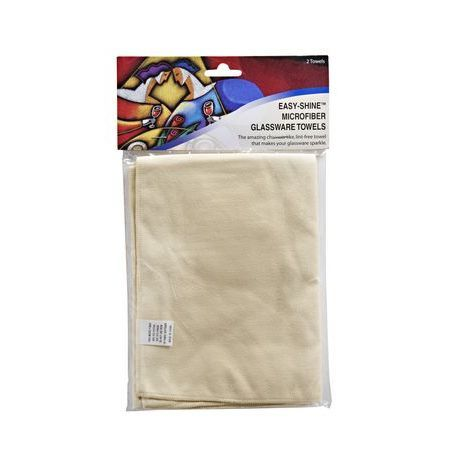 Easy-Shine Microfiber Glassware Towels, 2 each