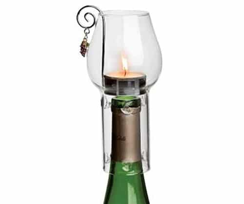 Wine Chimney Tea Candle Set, Clear