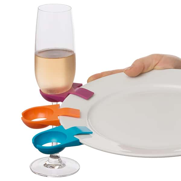 Buffet Wine Plate Clip – Set of 6 assorted colors