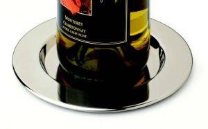 Wine Bottle Coaster, Pratique Set of 4Polished SS