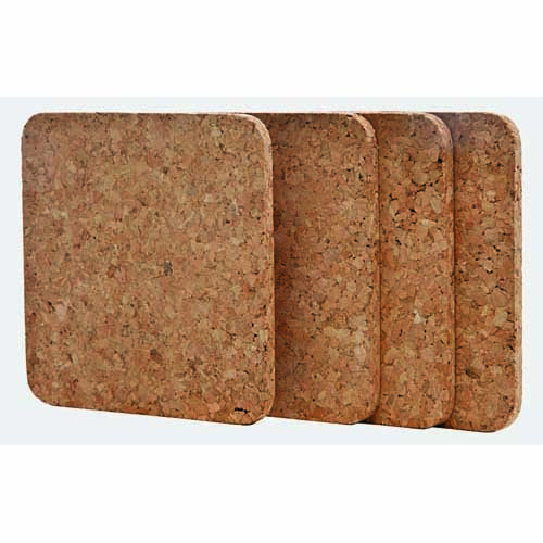 Cork Coasters, Square –  Set of 4