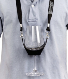 Wine Yoke Wine Glass Holder, Tasting Cup with lanyard