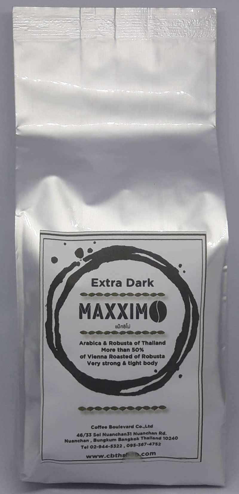 Maxximo Extra Dark, 70% Robusta,  Dark Roasted