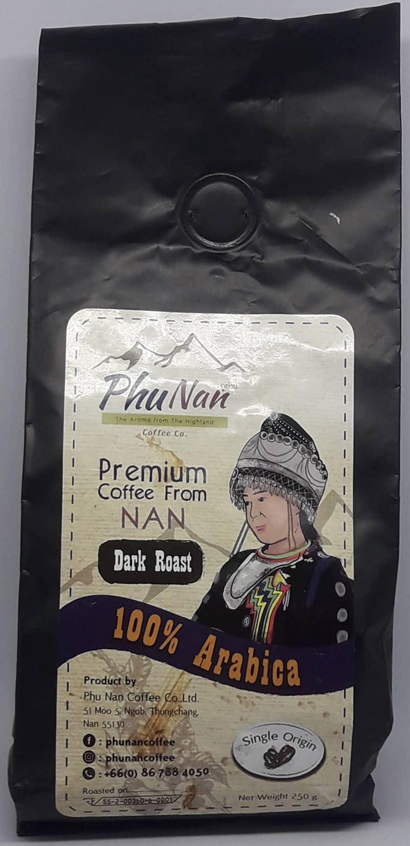 Phu Nan  100% Arabica Dark Roast  Single Origin